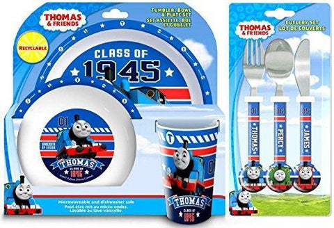 Thomas The Tank Engine 'College' Tableware and Cutlery Set