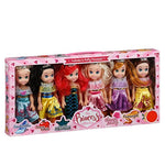 The Pretty Princess Doll Collection Set of 6 Disney Princess Dolls