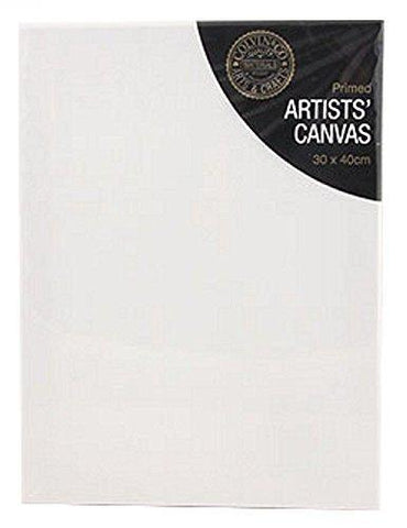 Pack of 1 Blank White Primed Artists Canvas With Wooden Frame 30 x 40cm x 1.7cm
