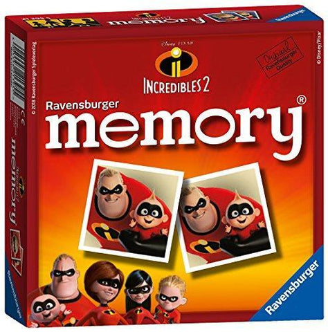 Ravensburger 21395 Disney Pixar The Incredibles 2 Mini Memory Game