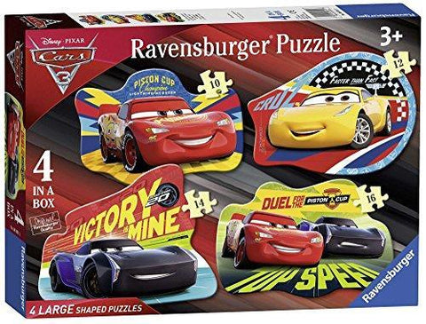 Ravensburger 06891 Disney Pixar Cars 3, 4 Large Shaped Jigsaw Puzzles