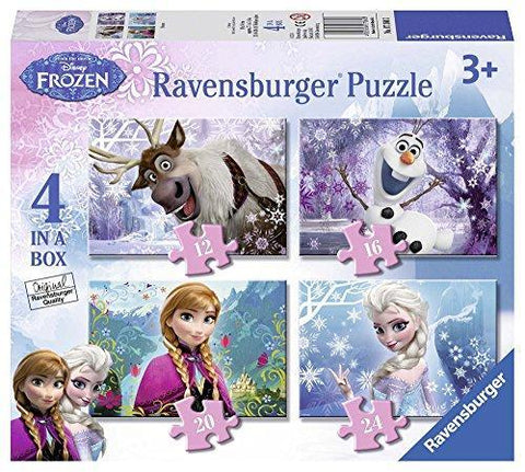 Ravensburger Disney Frozen 4 in Box (12, 16, 20, 24pc) Jigsaw Puzzles 7360