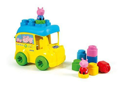 Clementoni Soft Clemmy Peppa Pig 8 Soft Blocks Bucket Bus
