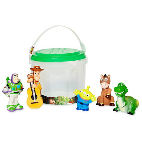 Official Disney Toy Story Bath 5 Piece Set Tub Toy Playset