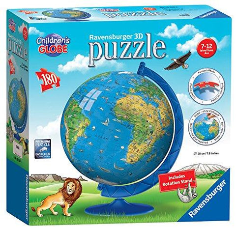 Ravensburger Children's World Globe 180 piece 3D Jigsaw Puzzle 12338