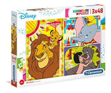 Clementoni Disney Classic Lion King, Dumbo & Jungle Book 3x49 Piece Jigsaw Puzzle