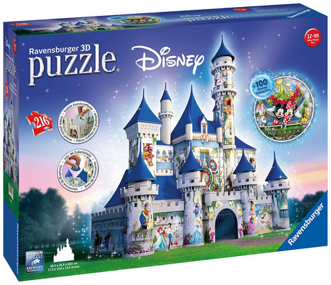 Ravensburger 12587 Disney Castle 216pc 3D Jigsaw Puzzle