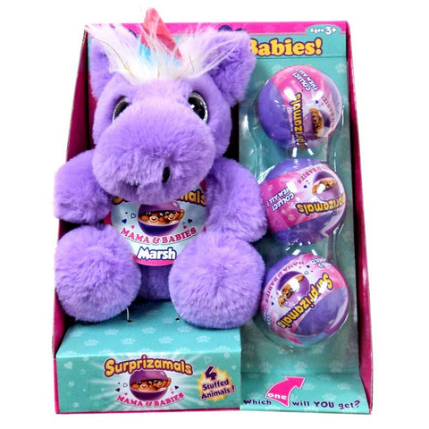 Animagic Surprizamals Mum & Babies Marsh Soft Plush Toy
