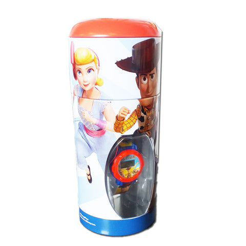 Disney Toy Story 4 LCD Watch In Coin Bank Tin