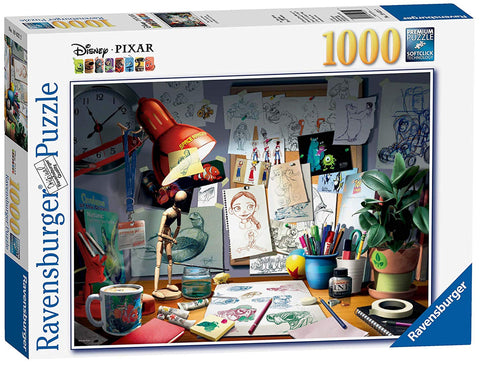 Ravensburger Disney Pixar The Artists Desk, 1000pc Jigsaw Puzzle 19432