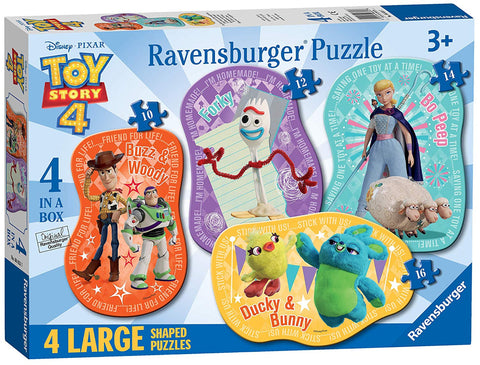 Ravensburger 6835 Disney Toy Story 4 - 4 Large Shaped Jigsaw Puzzles (10,12,14,16pc)
