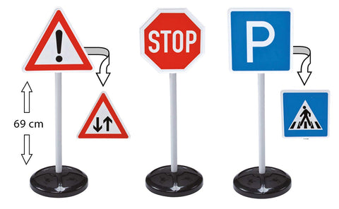 BIG Pretend Play Reversible Traffic Signs Ride On Accessory