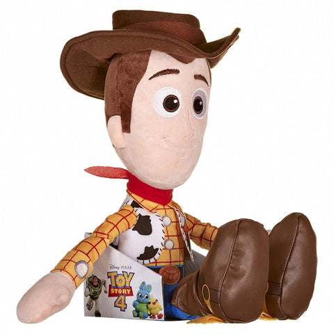 Disney Pixar Toy Story 4 -  HUGE 50cm Woody Soft Doll in Gift Box