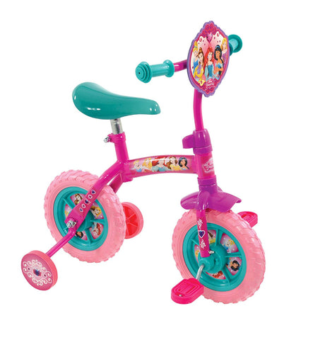Disney Princess 2 in 1 10'' Bike -  Converts from a training bike to a balance bike