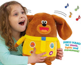 Hey Duggee Musical Duggee Soft Toy with Fun Moving Ears, Lights, Sounds and Songs, 24cm