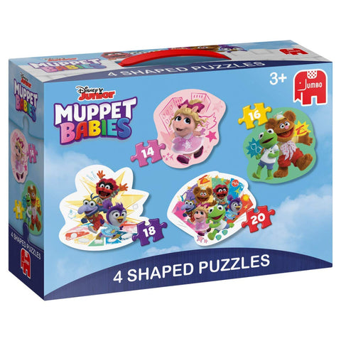 Jumbo 19759 Disney Muppet Babies 4 in 1 Shaped Puzzles, Multi