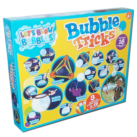 Let's Blow Bubbles Bubble Tricks Includes 3 Solutions & 19 Accessories