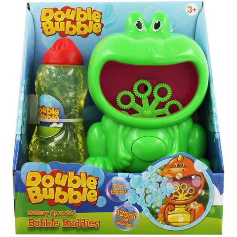 Double Bubble Battery Operated Bubble Buddies With Solution Colours Vary
