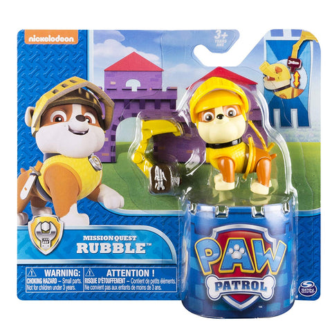 Paw Patrol Mission Quest Rubble Hero Pup Figure