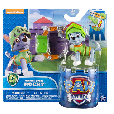 Paw Patrol Mission Quest Rocky Hero Pup Figure