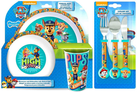 Paw Patrol Dynamic 6 Piece Dinner and Cutlery Set | Tumbler, Bowl, Plate, Knife, Fork and Spoon