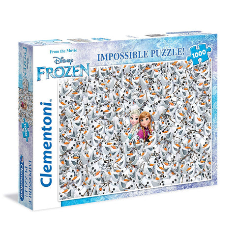 Clementoni Disney Frozen 1000 Piece Impossible Jigsaw Puzzle