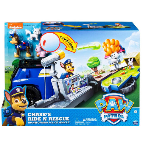 Paw Patrol Chases Ride N Rescue Transforming 2 In 1 Transforming Police Vehicle