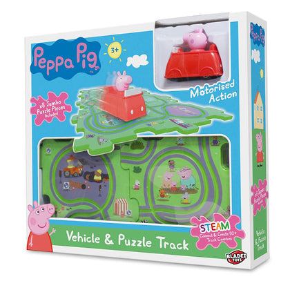 Bladez Toyz Peppa Pig Vehicle & Tile Puzzle Track Set