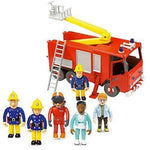 Fireman Sam Friction Fire Engine Jupiter & 5 Figure Articulated Set