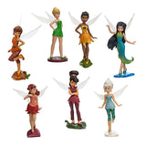 Official Disney Tinkerbell Faries 7 Figurine Playset