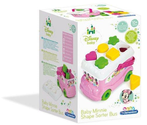 Clementoni Disney Baby Minnie Mouse Shape Sorter Bus