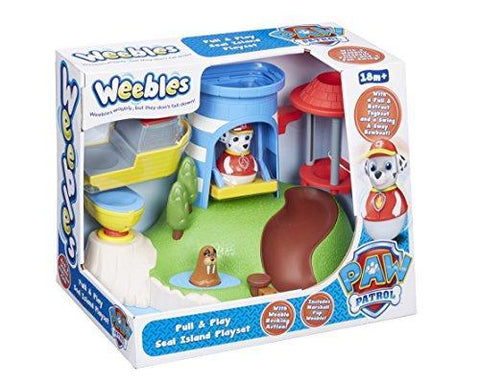 Weebles Paw Patrol Pull & Play Seal Island Playset