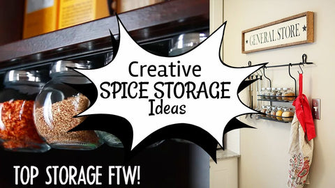 More detail related to our spice storage ideas video: 10.Magnetic Mason Jars