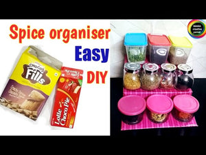 DIY Spice Organiser for kitchen from waste boxes#3 step spice rack for kitchen,Best kitchen organiser idea from empty Boxes# #Best Spice Organiser idea from ...
