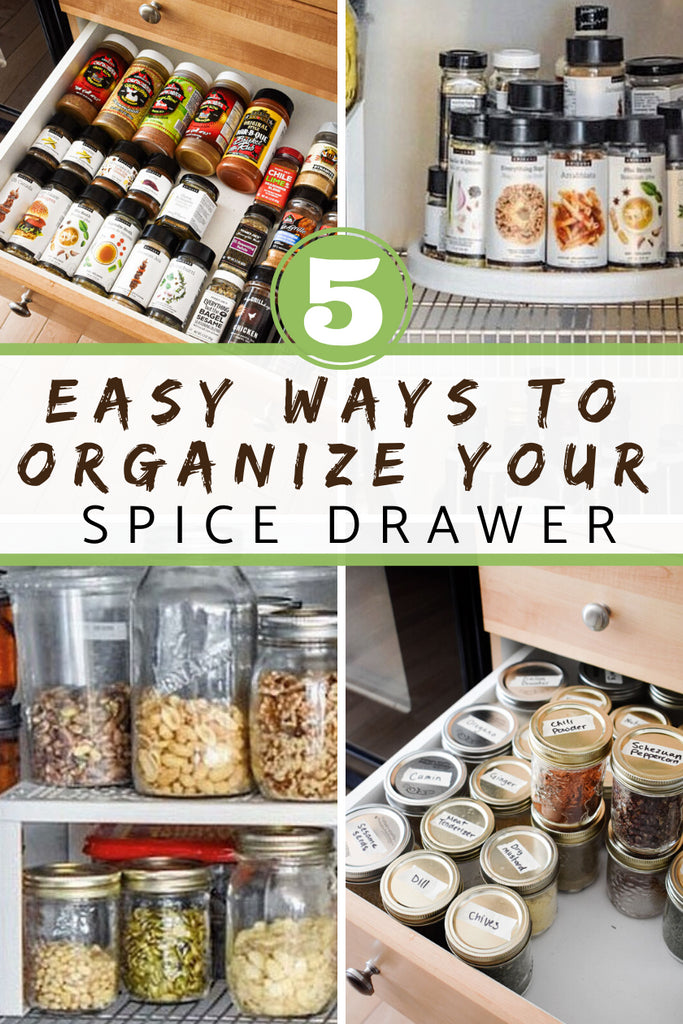 Get your spice drawer organized with these expert spice organization strategies from Krystee, Professional Organizer over at Sparx Organizing!