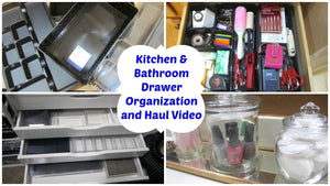 Hi there, in this video I am sharing a drawer organization haul and how I re-organized some kitchen and bathroom drawers