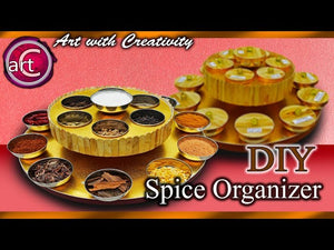 Kitchen Organisation ideas | Spice Organizer For kitchen | DIY | Art with Creativity 255 #artwithcreativity #gyana #swapna #kitchen #kitchenorganizer ...
