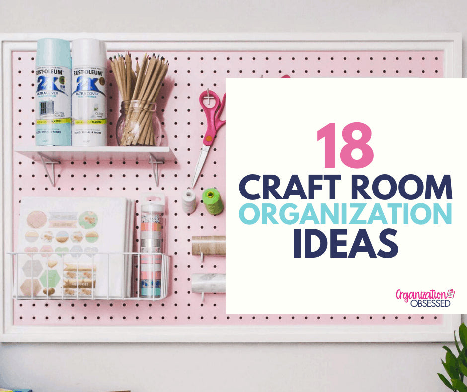 If you're a crafter, then you know how quickly craft supplies can take over your craft room! And we know how difficult it can be to organize your craft room