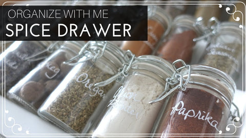 It's time for another Organize With Me: Spice Drawer Makeover! I wanted to refresh the spice drawer in our kitchen because it drove me crazy that all of the spice ...