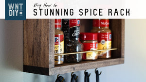 Simple Hanging Spice Rack // Easy DIY by Why Not Try DIY (2 years ago)