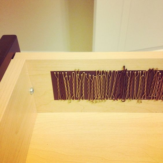 15 Ways To Store Bobby Pins and Hair Ties