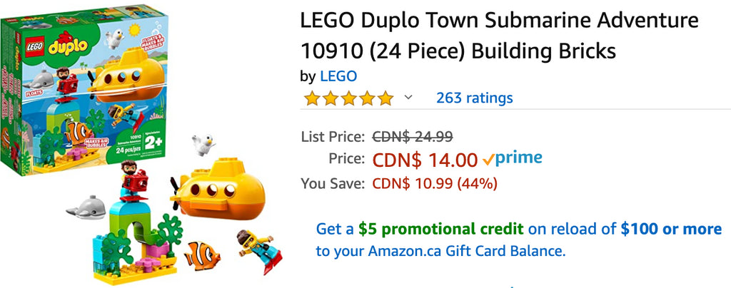 Amazon Canada Deals: Save 44% on LEGO Building Bricks + 40% on Revlon Magnified Mascara + 22% on Hamilton Beach Grill+ More Offers