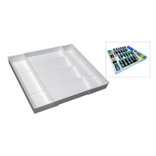 Dial Industries White Plastic Expand-A-Drawer Spice Organizer