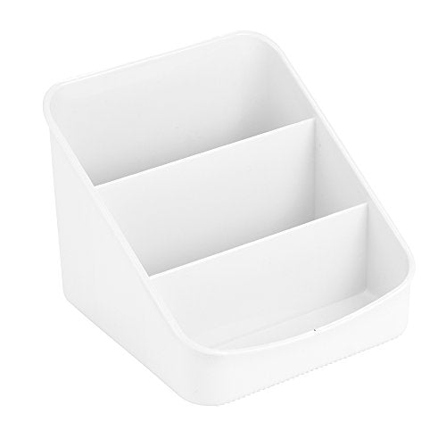 iDesign Linus Spice Packet Organizer Bin for Kitchen Pantry, Cabinet, Countertops - White