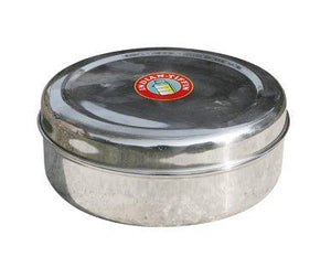 Indian Style Masala Dabba Spice Box including Double Lid 22cm
