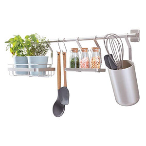 iDesign Austin Metal Wall Mount Kitchen Organizer for Spices, Utensils, Sponges, Soap, Matte Satin
