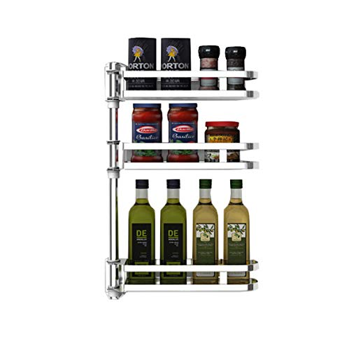 Rotating Spice-Rack Shelf Kitchen Corner-Organizer (3 Tiers)