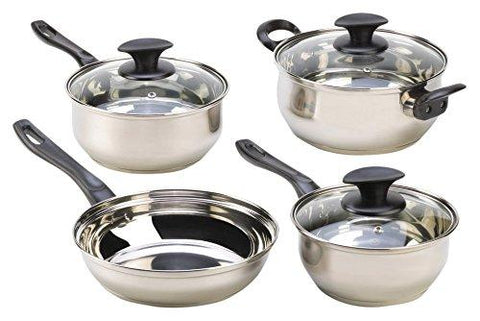 Koehler 13780 8.5 Inch Stainless Steel Cookware Set
