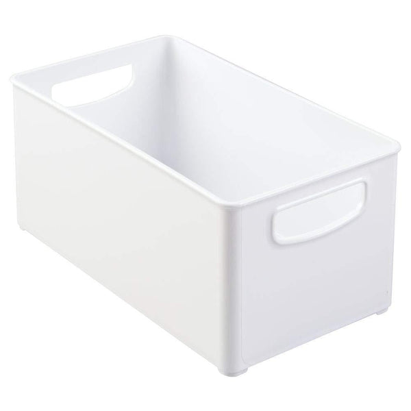 Cheap mdesign deep plastic closet organizer bin storage organizer container with handles for closets bedrooms entryways mudrooms kitchens pantry bathrooms 5 high 4 pack white