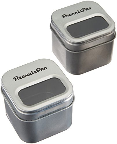 PraxxisPro Magnetic Paper Clip Holder, All Steel Design, Set of 2